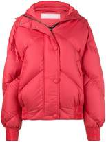 Ienki Ienki Red Dunlop cropped hooded puffer jacket