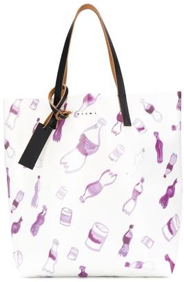 Marni painted bottles tote bag
