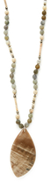 Chan Luu Agate, Labradorite, & Pyrite Pendant Necklace
