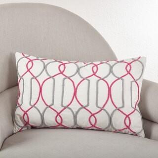 Saro Lifestyle Corded Trellis Embroidered Down Filled Throw Pillow