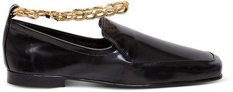 BY FAR Nick Chain-Detailed Loafers