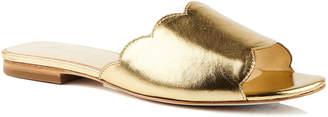 Isa Tapia Neva Metallic Flat Sandals