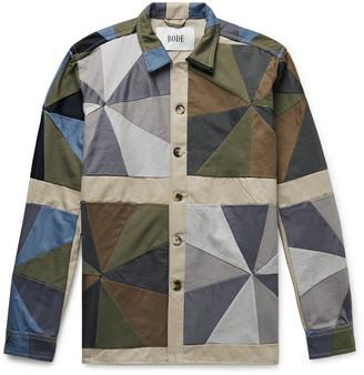 Bode Patchwork Cotton-Twill Shirt