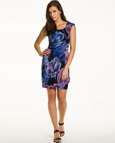 Le Château Abstract Print Slub Knit Dress