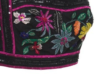 ZUHAIR MURAD Embellished Passiflora Crop Top