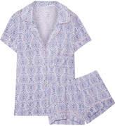 Eberjey Timba Printed Stretch-modal Jersey Pajama Set - Lavender