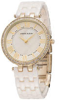 Anne Klein Goldtone Crystals and Ceramic Bracelet Watch