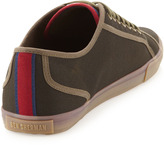Ben Sherman Low-Top Twill Sneakers, Olive