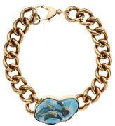 Balmain Turquoise Chain Choker Necklace