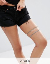 Asos Pack of 2 Curb Leg Chains