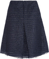 Iris and Ink Pleated raffia skirt