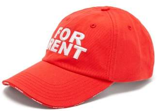 Vetements X Reebok For Rent-embroidered Baseball Cap - Mens - Red