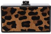 Edie Parker Jean Leopard Panel Clutch