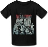 CVB YC Big Boys' The Walking Dead 2016.png T Shirt For Kids Black L