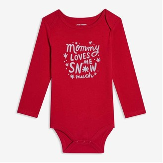Joe Fresh Baby Girls' Graphic Bodysuit, Red (Size 3-6)