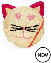 Very Girls Straw Circle Cat Bag