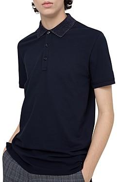 HUGO Dinos Glitter-Collar Slim Fit Polo Shirt