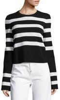 Calvin Klein Collection Karter Striped Long-Sleeve Top