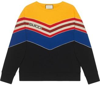 Gucci Sweatshirt with chevron stripe