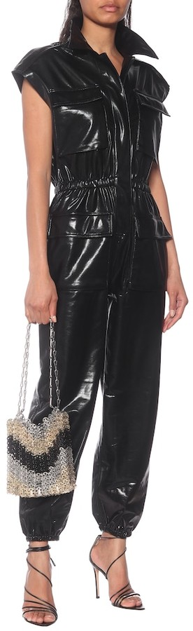 Thumbnail for your product : Norma Kamali Faux-leather jumpsuit