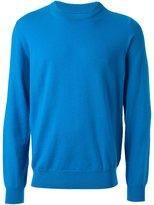 Maison Margiela crew neck sweater - men - Wool/Leather - XL