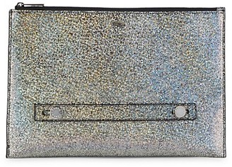 Furla Glitter Leather Clutch