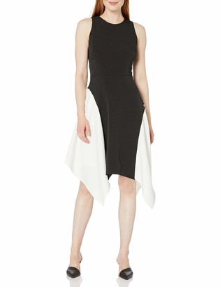Maggy London Women's Mystic Crepe Color Block Fit & Flare