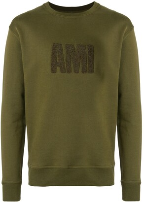 Ami crew neck sweatshirt big embroidered patch
