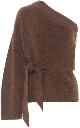 Nanushka Cleto belted one-shoulder sweater