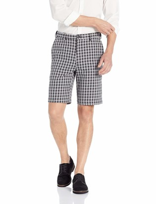 Haggar Men's Cool 18 PRO Stretch Heather Check Flat Front Short