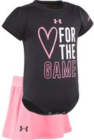 """Under Armour Baby Girl Heart For The Game"""" Graphic Bodysuit & Skort Set"""
