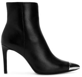 Calvin Klein Leather Stiletto Booties