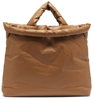 Kassl Editions Oil Large Padded Canvas Tote Bag - Camel