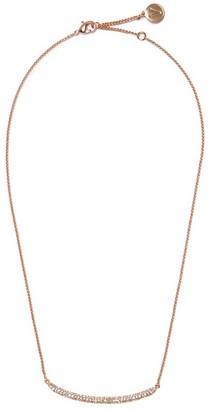 Vince Camuto Rose Goldtone Pave Bar Necklace