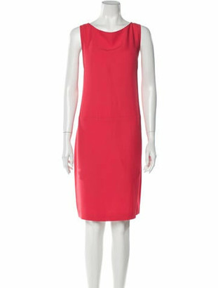 Prada Scoop Neck Knee-Length Dress Orange