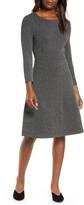 Leota Carly Jacquard Fit & Flare Dress