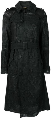 Comme Des Garçons Pre-Owned Embroidered Double Breasted Coat