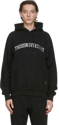 This Is Never That thisisneverthat Black Arc-Logo Hoodie