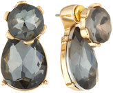Fragments for Neiman Marcus Mixed Crystal Front-Back Drop Earrings, Hematite