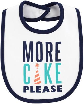 "Carter's Baby Boy More Cake Please"" Graphic Bib"