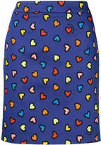 Love Moschino heart print mini skirt