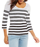 Tommy Bahama Sedaris Stripe 3/4 Sleeve Tee