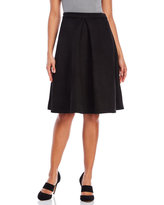 Lucy Paris Faux Suede Pleated Midi Skirt