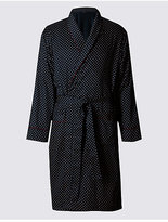 M&S Collection Pure Cotton Paisley Dressing Gown