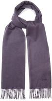 Brioni Logo-embroidered cashmere scarf