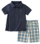 Calvin Klein Two-Piece Polo and Short Set