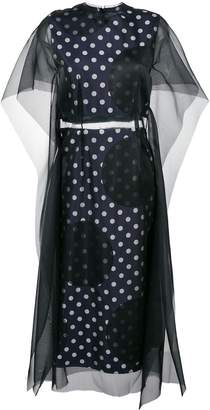 Maison Margiela overlay polka dot dress