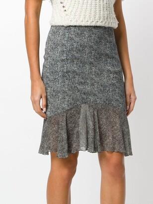 John Galliano Pre-Owned Tweed Effect Skirt