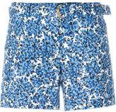MICHAEL Michael Kors calico print shorts - women - Cotton/Spandex/Elastane - 4