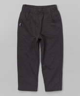 Charlie Rocket Charcoal Heather Gray French Terry Pants - Toddler